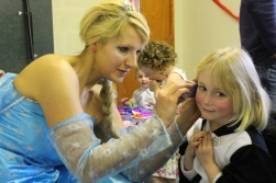Face painting by Elsa!