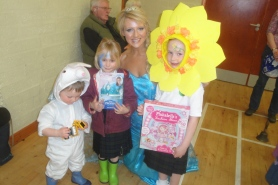 Fancy dress winners - unfortunately the girls had to change for the dancing demonstration!